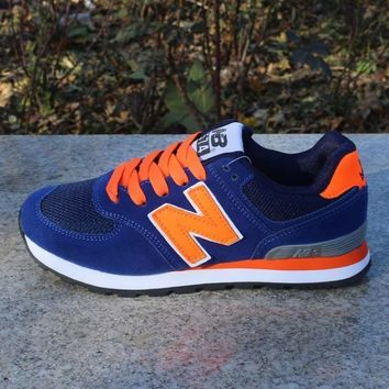 women men casual running new balance sport shoes sneakers treasure blue orange one nice