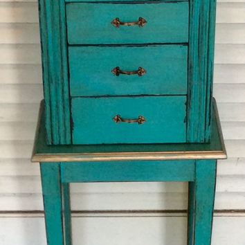 Jewelry Box Stand Turquoise