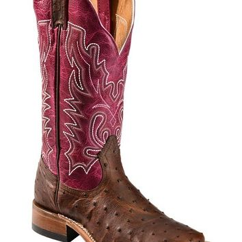 Boulet Antique Full Quill Ostrich Cowgirl Boots - Square Toe - Sheplers