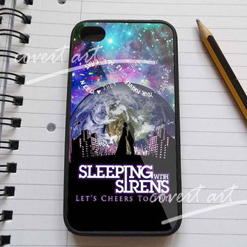 Sleeping with sirens in galaxy cover  for iPhone 4 / 4S / 5 Case Samsung Galaxy S3 / S4 Case