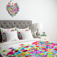 DENY Designs Home Accessories | Amy Sia Flower Fields Pink Duvet Cover