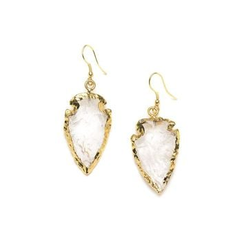 Abbakka Arrowhead Earrings - Crystal - Matr Boomie (Jewelry)