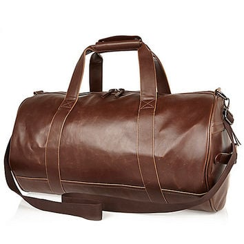 River Island MensBrown holdall bag