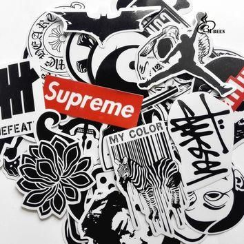 45mixed graffiti supreme street stickers