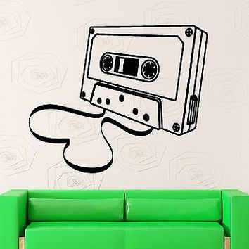 Wall Stickers Vinyl Decal Retro Cassette Music Player Sound Recorder (ig1777)