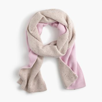 Two-tone scarf in everyday cashmere