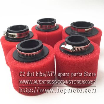 35mm 38mm 42mm 45mm 48mm Straight Foam Air Filter Sponge Cleaner Moped Scooter CG125 150cc Dirt Pit Bike Motorcycle RED