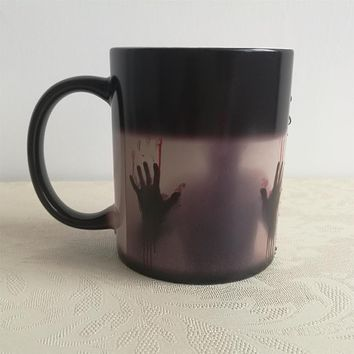the walking dead mugs transforming heat changing color tea cups magical magic beer cups zombie mug coffee mug disappearing mugs
