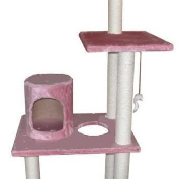"New BestPet Pink 62"" Cat Tree Condo Furniture Scratch Post Pet House 5002"