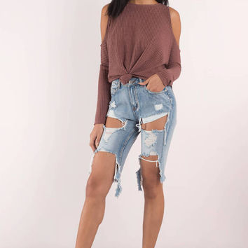 Ruby Cold Shoulder Tee
