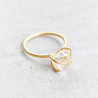 Raw Crystal Rock Ring- Rose