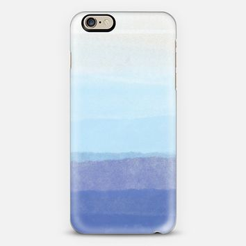 Blue Ombre Watercolor iPhone 6 case by Noonday Design | Casetify
