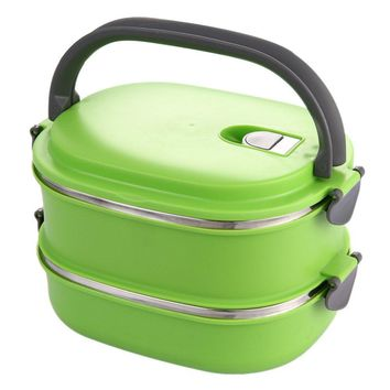 Insulated Lunch Container Stainless Steel Food Storage Container Thermo Server Essentials Thermal Double Layer Green