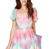 Nasty Gal Rainbow Flow Dress