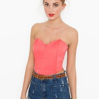 Sweetheart Bustier - Coral in What's New at Nasty Gal