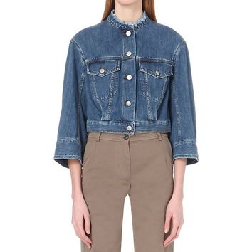 DRIES VAN NOTEN - Valdez cropped denim jacket | Selfridges.com