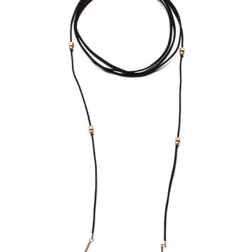 Waverly Wrap Necklace - Black