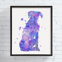 Boxer Art Print, Watercolor Boxer, Boxer Wall Art, Boxer Wall Decor, Boxer Dog, Dog Poster, Dog Lover Gift, Framed Art, Custom Colors, Pets
