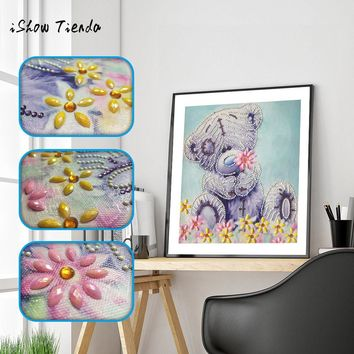 Cat Butterfly Bear pattern Special Shaped Diamond Painting DIY 5D Partial Drill Cross Stitch Rhinestone Embroidery Arts Craft