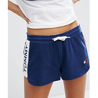 Tommy Hilfiger Jeans Women Logo Print Elastic Leisure Sports Shorts Tagre™