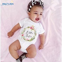 Baby Toddler Little Girl Sister Clothing Tops Bodysuit Cotton Suits Clothes Cute Baby Girls