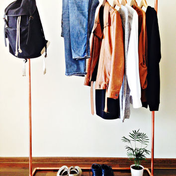 Copper pipe clothes rack