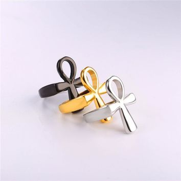 Egyptian Ankh Simple Rings