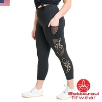 Plus Size Lace Sport Leggings