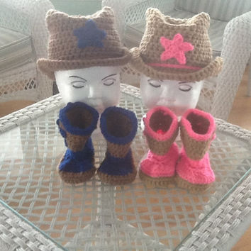 twins cowboy sets, baby twins cowboy set, twins baby shower gift, twins photo prop, triplets cowboy set, baby cowboy set, twin babies