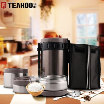 TEAHOO Brand 1.8L Stainless Steel Container Belly Cup Vacuum Flask Thermos for Hot Food water Bottle Insulated Thermos mug