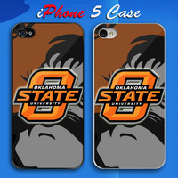 Hot New Design Oklahoma State Cowboys Logo Custom iPhone 5 Case Cover from namina