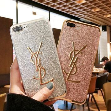YSL phone case shell  for iphone 6/6s,iphone 6p/6splus,iphone 7/8,iphone 7p/8plus, iphonex
