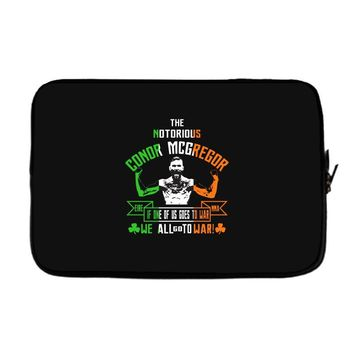 conor mcgregor notorious go to war irish Laptop sleeve