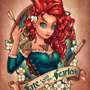 Fate Loves The Fearless Art Print by Tim Shumate