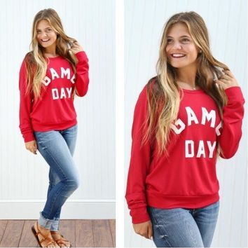 Tops Autumn Alphabet Print Women's Fashion Hoodies [11535889094]
