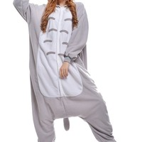 New Cosplay Grey Cat Unisex Adult Anime Onesuit Costume for Festivals
