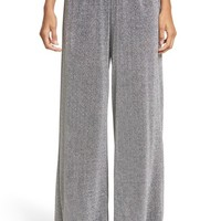 MM6 Maison Margiela Metallic Jersey Wide Leg Pants | Nordstrom