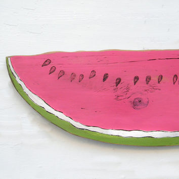 Watermelon Sign Slice Farm Stand Sign Summer Fruit Kitchen Sign