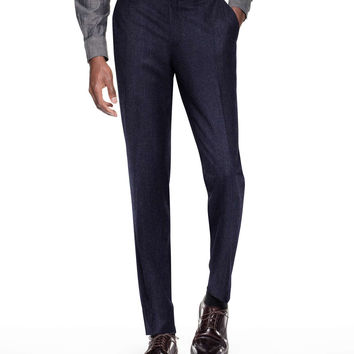 Sutton Suit Pant In Italian Navy Pinstripe Wool