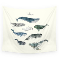 Society6 Whales Wall Tapestry