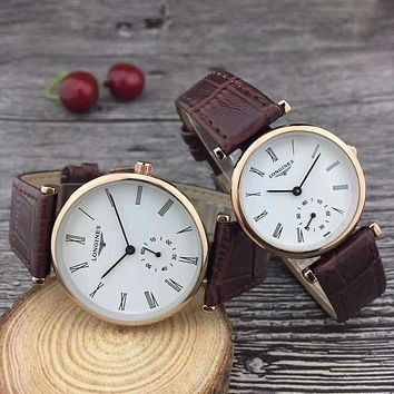 LONGINES Woman Men Fashion Quartz Movement Watch Wristwatch