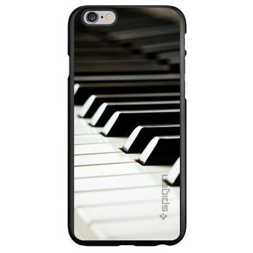 DistinctInk® Spigen ThinFit Case for Apple iPhone or Samsung Galaxy - Piano Keys Keyboard