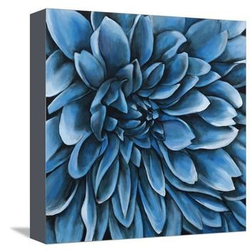 Turquoise Bloom Giclee Print by Sydney Edmunds at Art.com