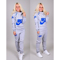 """Nike"" Casual Hoodie Sweater Pants Trousers Set Two-Piece"