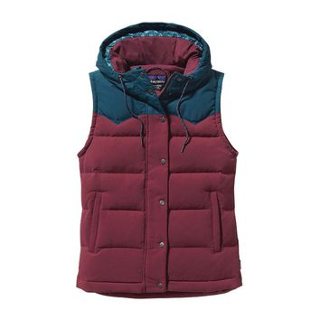 Patagonia Women's Bivy Hooded Vest | Oxblood Red