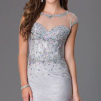 Bead Strapless Gown by Sean Collection