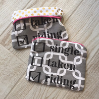 "Single Taken Riding ""Everything You Need"" Zipper Bag"