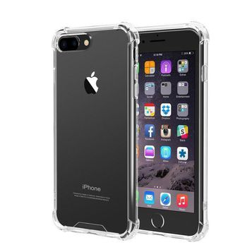 Iphone 7 Plus Iphone 8 Plus Case Ixcc Iphone 7 Plus Iphone 8 Plus Crystal Clear Cover Case [shock Absorption] With Soft Tpu Bumper For Iphone 8 Plus Iphone7 Plus 5.5 Inch (2016)   Clear