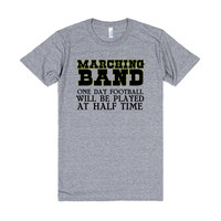 marching band one day football will be played at half time