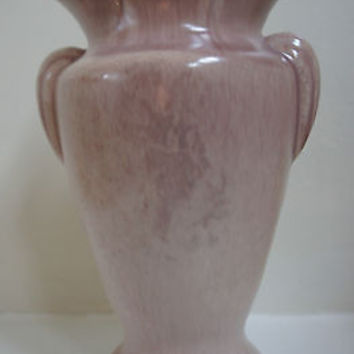 "Rare Antique Vase American Pottery Art 7"" Gonder Pink Handled Vase No. E-1"